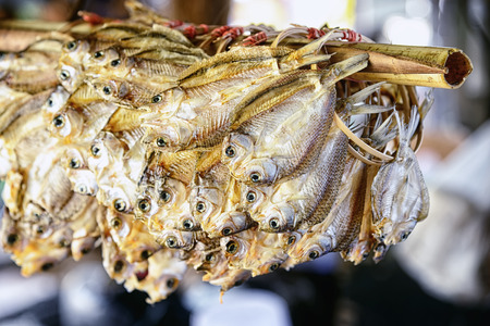 perch dried: Drying fish : Thailand