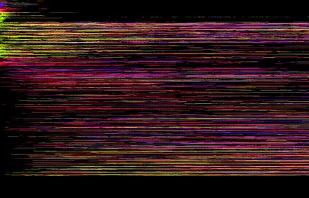 computer screen: Colorful glitch background Stock Photo