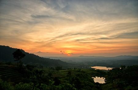 Sunset in the mountains landscape : Khao Kho, Phetchabun, Thailand