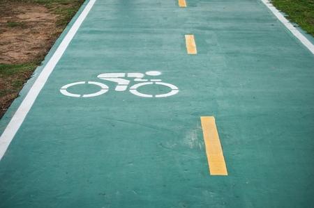 Bike lane or bicycle road sign background