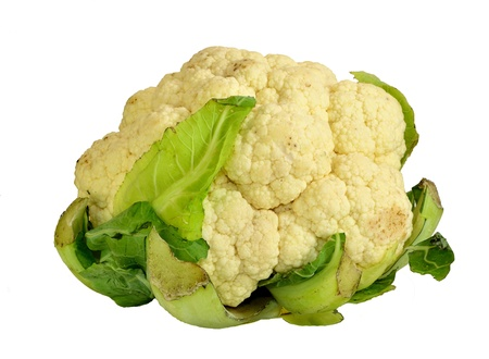 Head of Cauliflower on a white background.