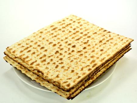 matzos: Matzos on a plate - jewish passover bread