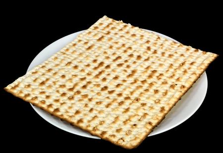 Matzoh on a plate - jewish passover bread