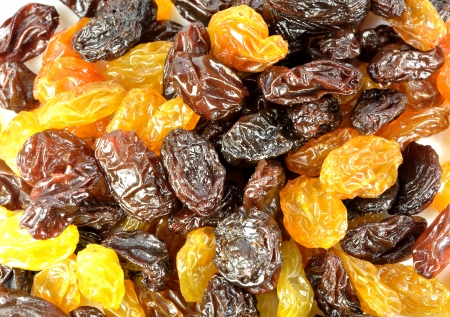 A closeup of a group of raisins. Banco de Imagens