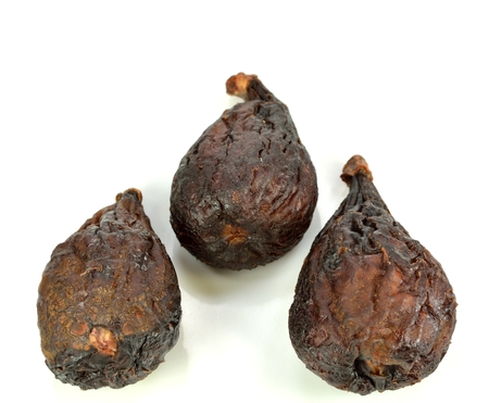 Three figs standing on a white background.