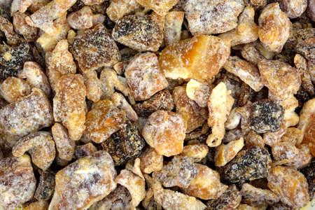 Closeup of a pile of chopped dates.