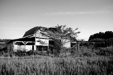 run down: Run down barn Stock Photo