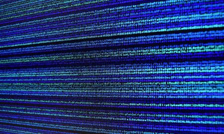 data stream: Code Blue Computer Data Stream