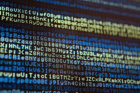 Computer Code: Retro Computer Data Stream Code