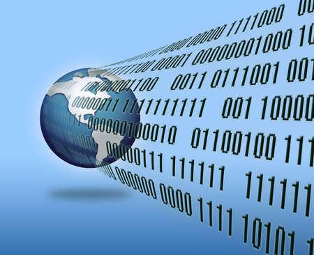 code computer: binary world , technology concept
