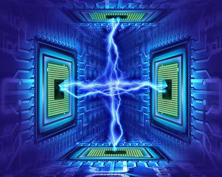 circuito integrado: procesadores Foto de archivo