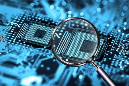processor scanning Stock Photo