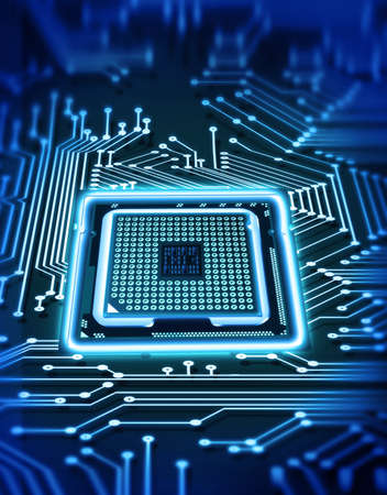 data processor: microchip Stock Photo