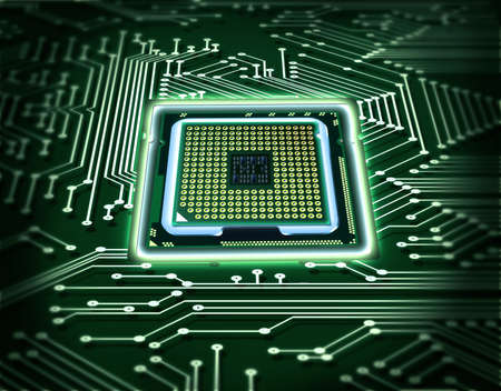 processors: microchip Stock Photo
