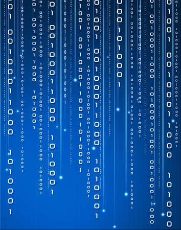 binary data flowing