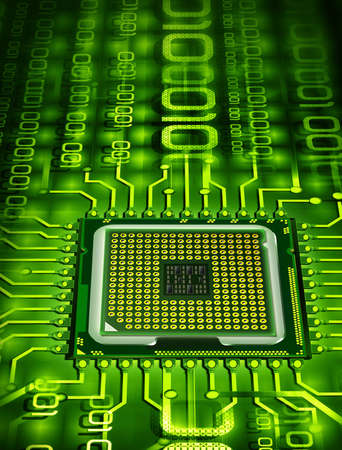 microprocessor Stock Photo