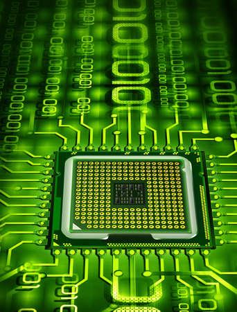 components: microprocessor Stock Photo