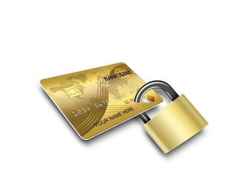 credit card purchase: cards security Stock Photo