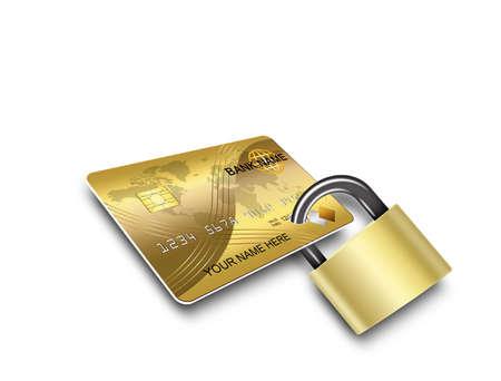 or lock up: tarjetas de seguridad Foto de archivo