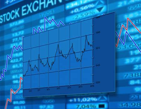 stock exchange diagram Stock Photo - 10545298