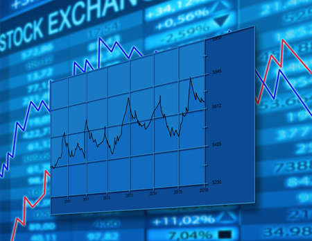 stock chart: stock exchange diagram