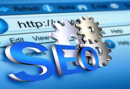 web service: sitio Web seo Foto de archivo