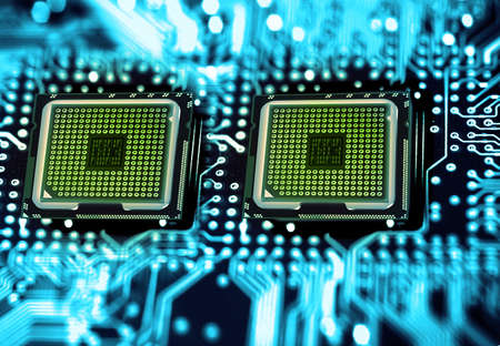 processors: dual processors Stock Photo