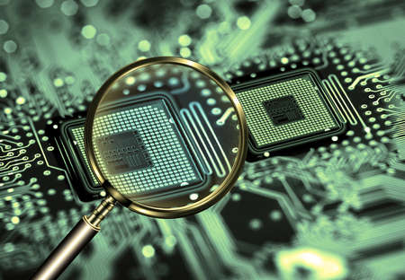processor scann Stock Photo - 10553145