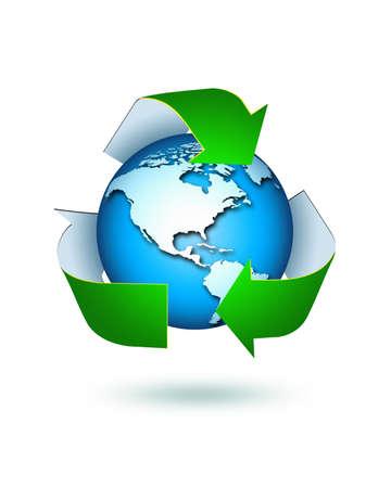earth pollution: recycle concept