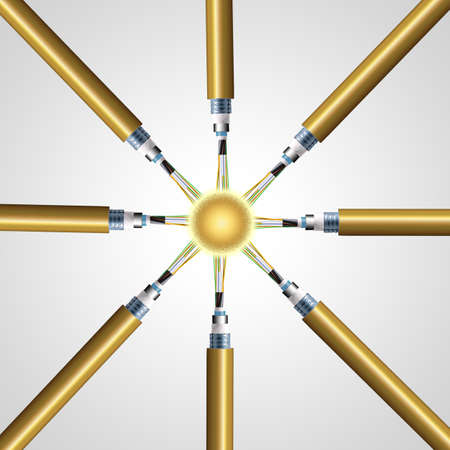 fibra óptica: nodo óptico de fibra