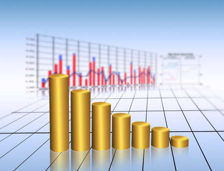 golden graph Stock Photo - 10734177