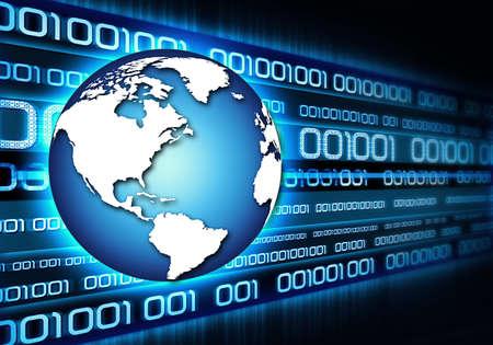 computer program: networking Stock Photo