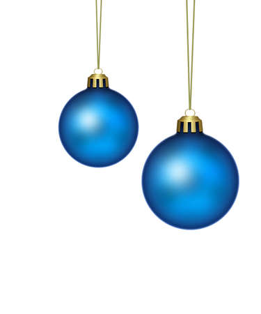 christmas element: blue christmas balls