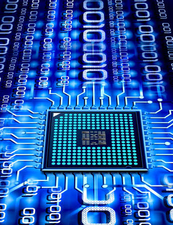 microprocessor: micro chip Stock Photo