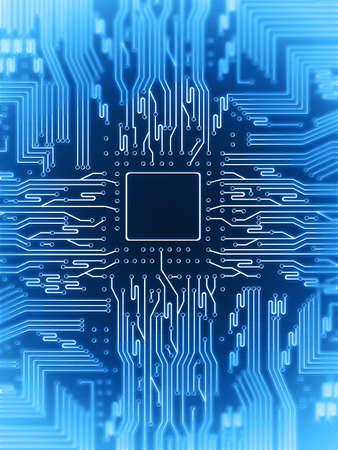 electric circuit Stock Photo