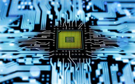 electrical circuit: Circuito con processore Archivio Fotografico