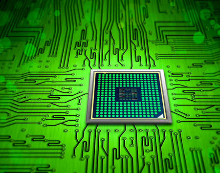 motherboard: microchip technology Stock Photo