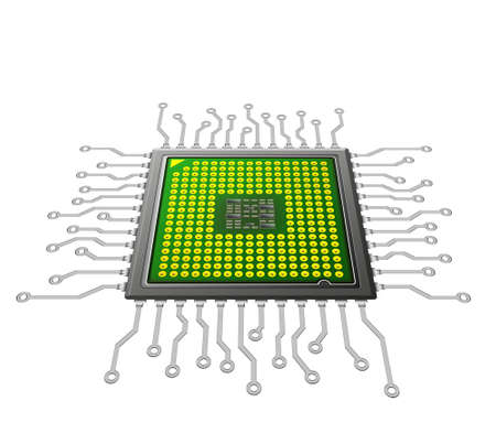 microprocessor: futuristic microchip concept,nano technology Stock Photo