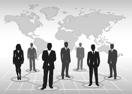 organigrama: equipo de negocios