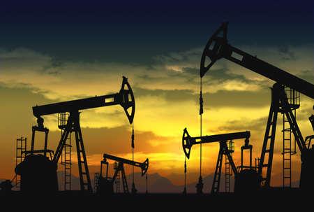 torres petroleras: aceite de gato de bomba en funcionamiento
