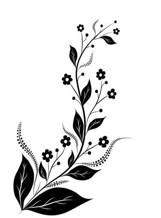 friso: arte abstracto de la flor, decoración