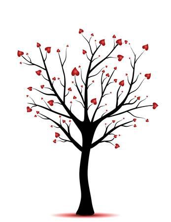un arbre: arbre avec des coeurs, le concept de l'amour