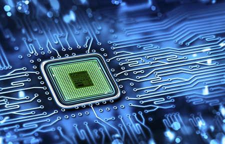 microchip geïntegreerd op het moederbord