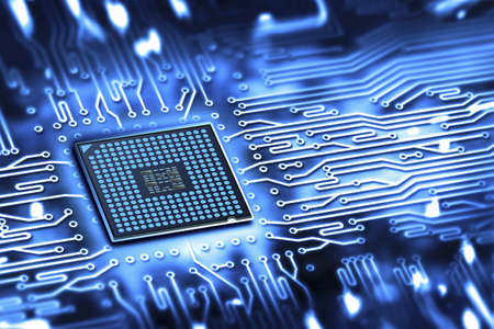 electronic circuit: integrated microchip