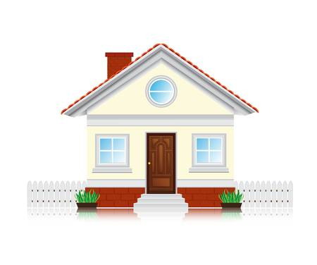 cute icon house Vector