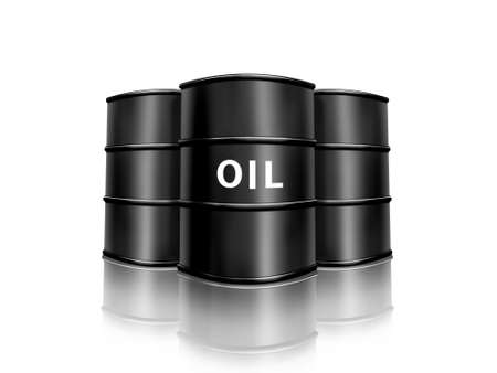 metaal: vat olie Stockfoto