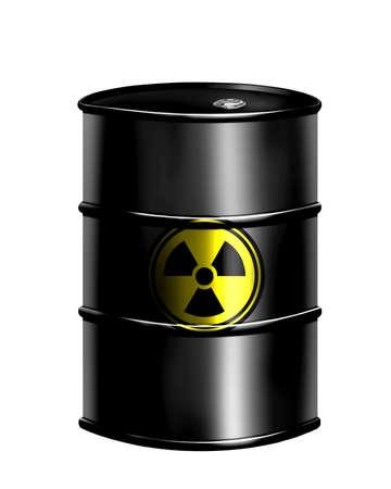 radium: barrel of radioactive waste