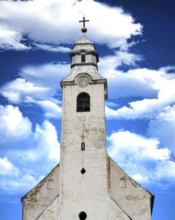 congregational: medieval catholic church from Transylvania Stock Photo