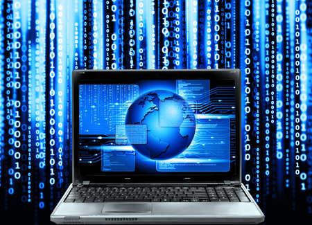 抽象的なコンピュータ コード、ソフトウェア プログラム