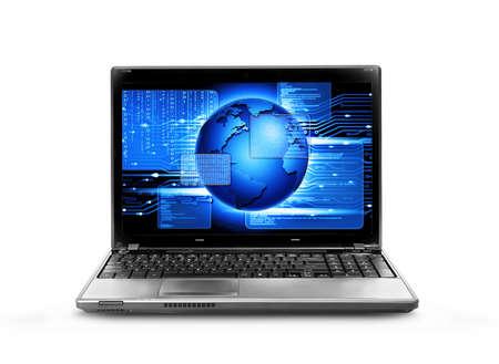 computer software: computer software running,computer code Stock Photo